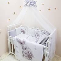 Комплект детского постельного Magic Зайка серебро