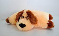 """Мягкая игрушка-подушка. Собака """"Дружок """" 37 х 50 персик"""
