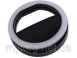 Селфи вспышка (подсветка) LED Icoco для камер телефонов  Черный