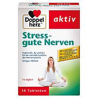 Doppelherz Stress - gute Nerven хорошие нервы - Пищевая добавка с витаминами B1, B2, B6 и B12 для нормальной р