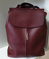 Рюкзак-сумка женский бордовый