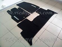 Текстильные коврики в салон Renault Scenic 3 с 2009 г. (Черные)