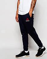 Мужские спортивные штаны Reebok черные с манжетами