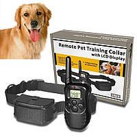 Электроошейник до 300 м Remote Pet Dog Training Collar со светодиодным светом и индикатором, фото 1