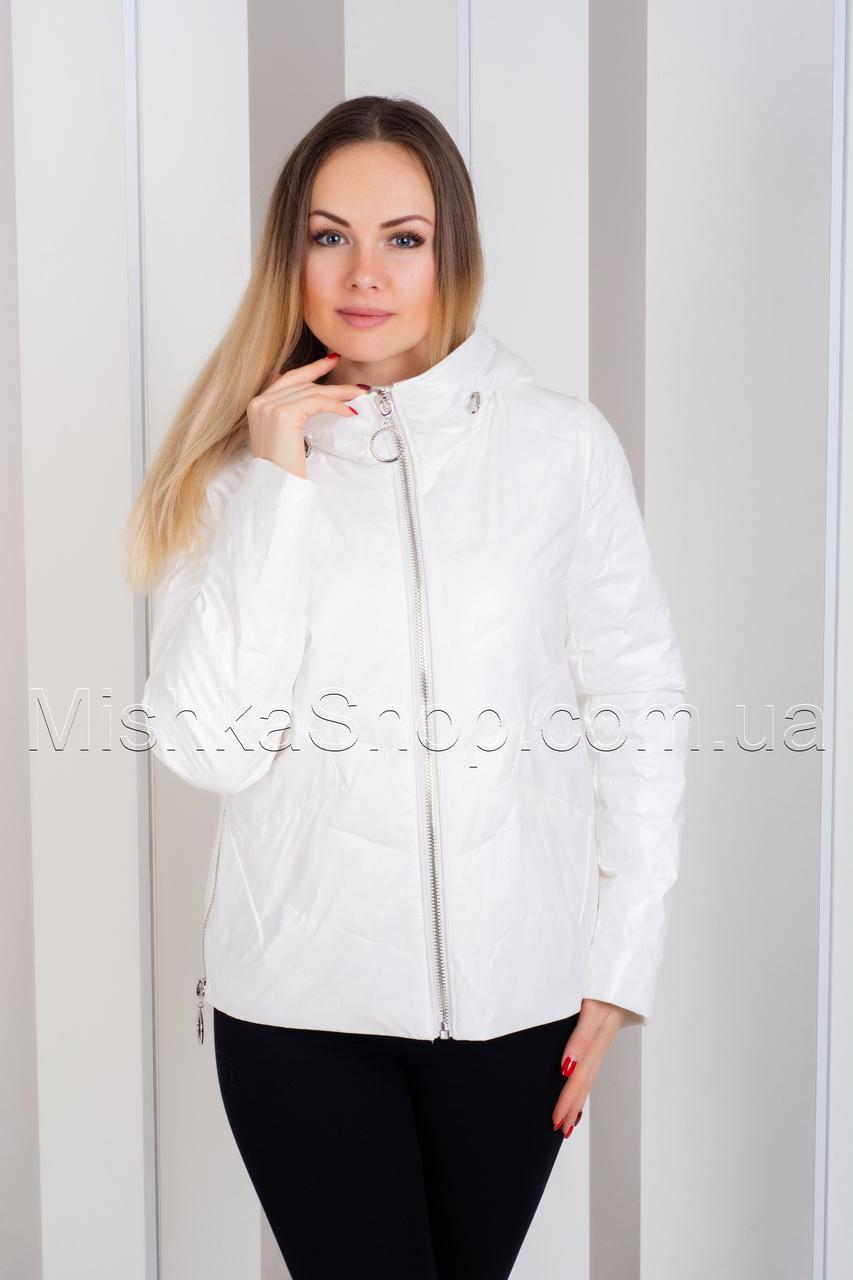 Стильная куртка из итальянской ткани ZLLY 19131 Белый