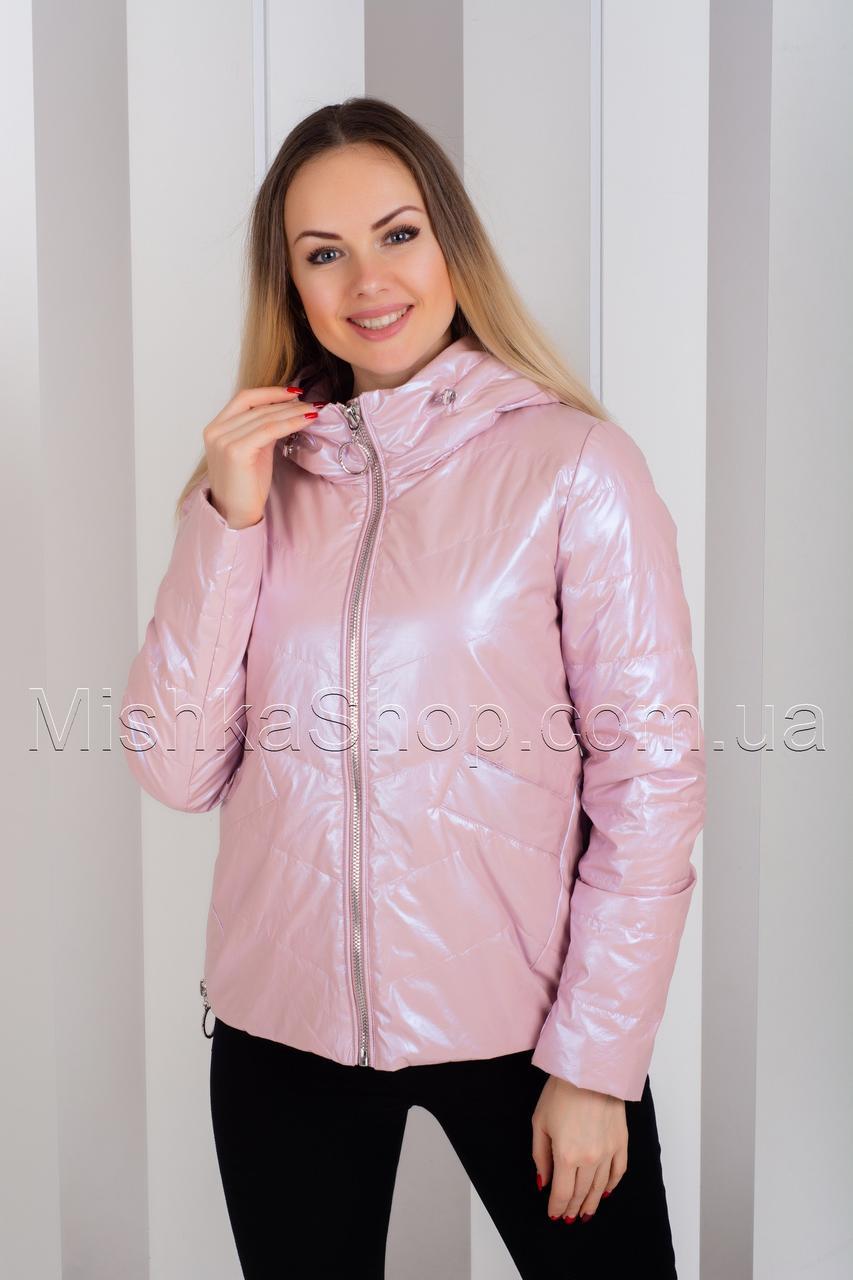 Стильная куртка из итальянской ткани ZLLY 19131 Пудра