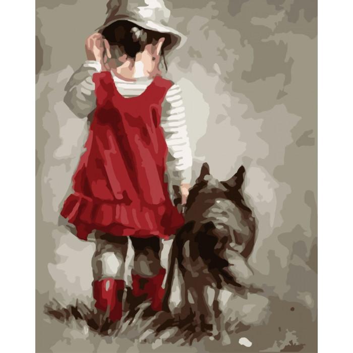 Картина по номерам на холсте Верный друг, KHO2313