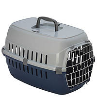 Переноска для собак и котов Роуд-Раннер Moderna с металлической дверью, 48,5х32,3х30,1 см, черничный,  T101331