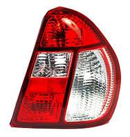 Фонарь задний правый Renault Symbol I (2 рестайлинг) 2006 - 2008 красно-белый, с патронами, (Depo, 551-1932R-UE-CR) OE 8200394730 - шт.
