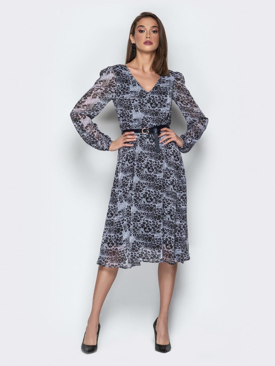 c6df15f5512 Модное воздушное женское шифоновое платье р.44