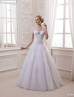 Свадебное платье (обычная фатиновая юбка, оригинальная модель), фото 1