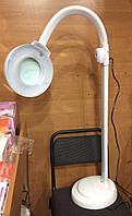 Лампа лупа светодиодная напольная на гибком шланге