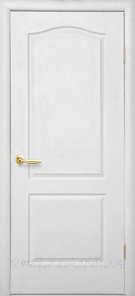 Двери Новый Стиль Дверь Классик ПГ цвет белый структурный грунт, коллекция Симпли