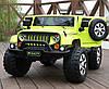 Детский 2-х моторный электромобиль Jeep с кожаными сиденьями, M 3445 EBLR-5 зеленый