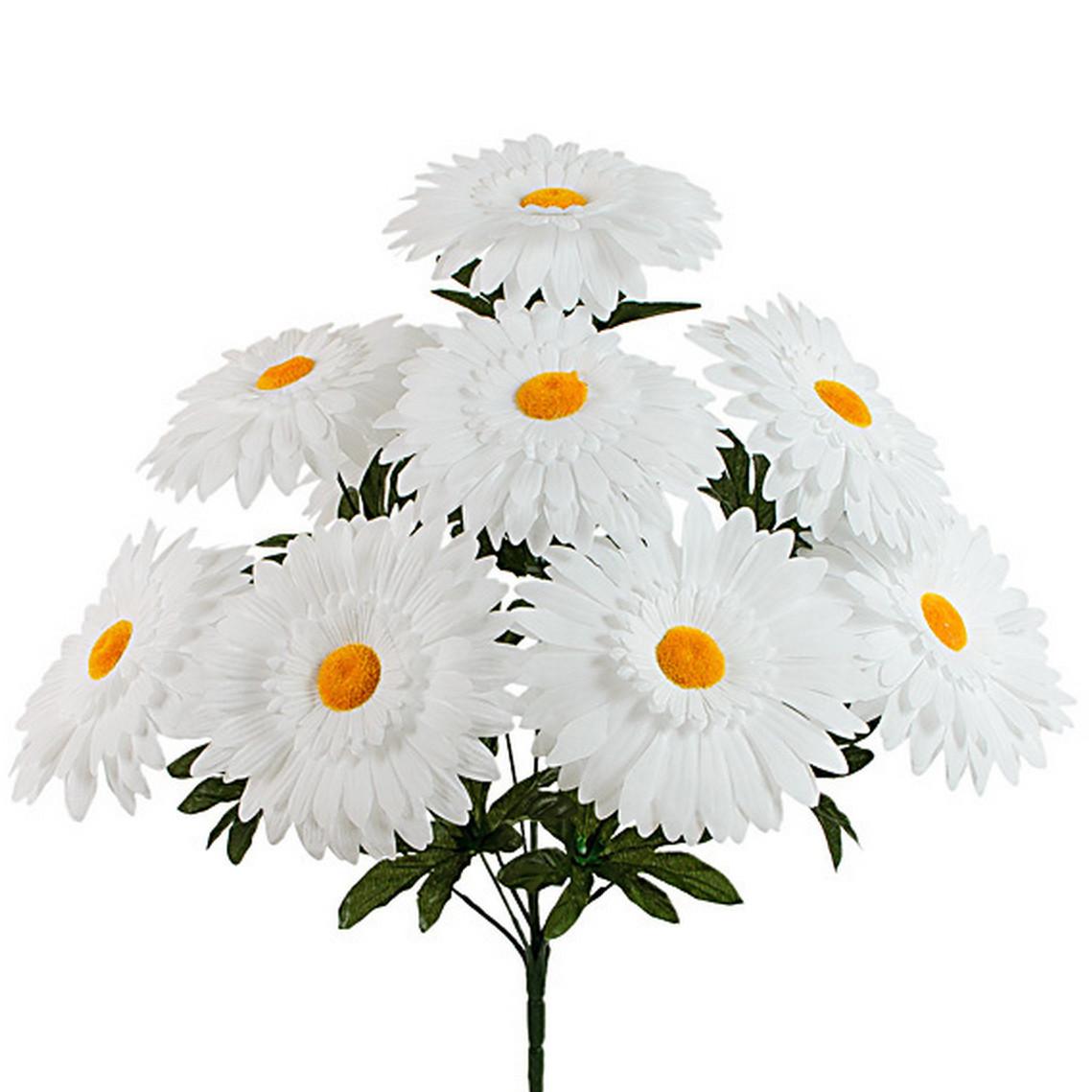 Букет белых ромашек, 50 см (10 шт в уп)