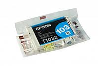 Оригинальный картридж Epson T1032, Cyan