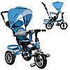 Трехколесный велосипед с поворотным сиденьем на надувных колесах, M 3114-5A голубой