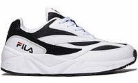 Мужские кроссовки Fila Venom White Black (фила веном, белые/черные)