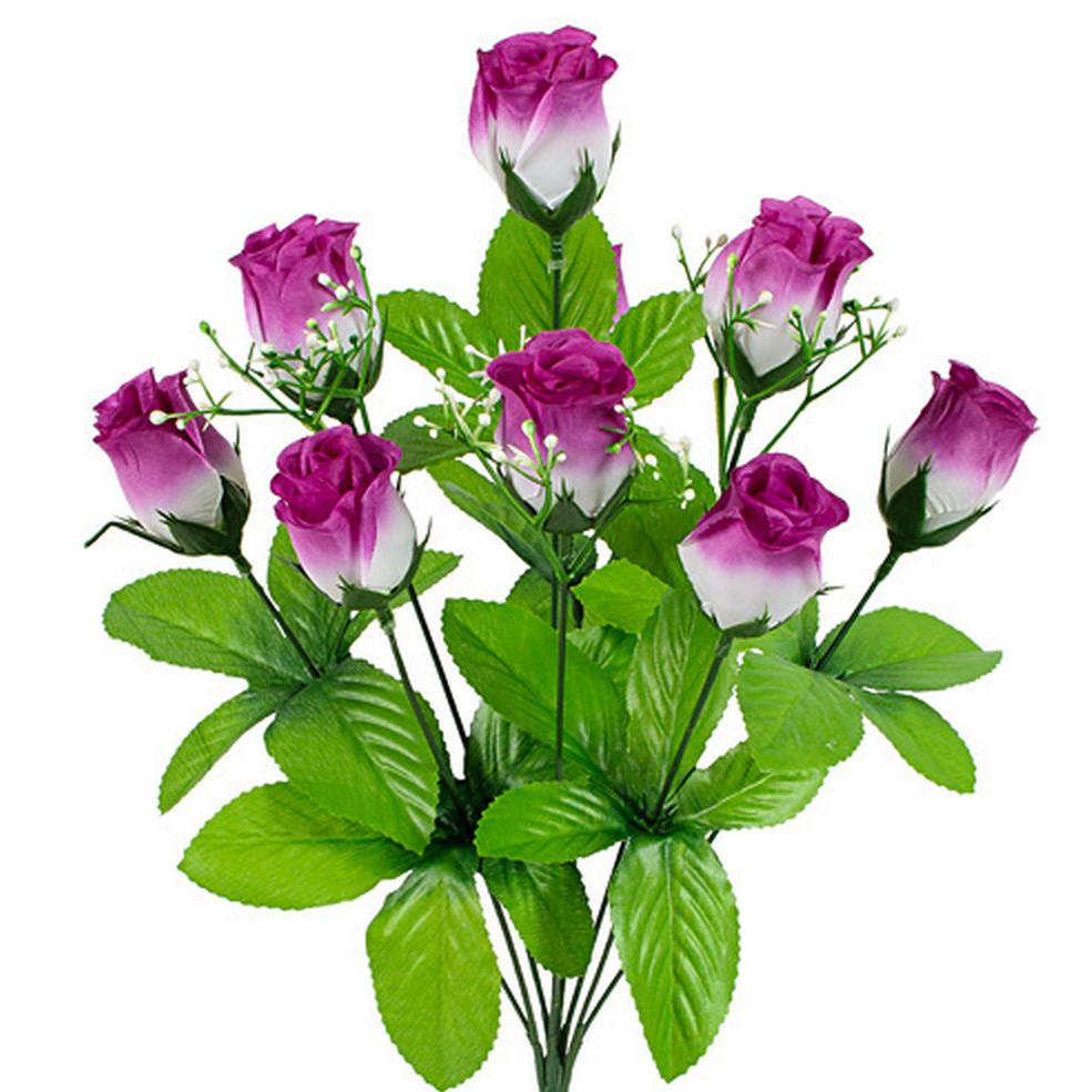 Букет  роза бутон, 42см  (20 шт в уп)