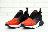 🔥 Кроссовки мужские повседневные Nike Air Max 270 Front Red найк эир макс 270 черные красные, фото 3