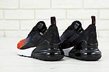 🔥 Кроссовки мужские повседневные Nike Air Max 270 Front Red найк эир макс 270 черные красные, фото 4