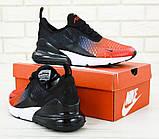 🔥 Кроссовки мужские повседневные Nike Air Max 270 Front Red найк эир макс 270 черные красные, фото 5