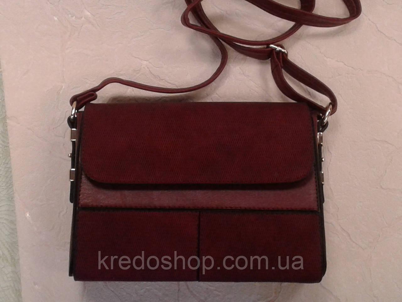 b6d815ad024a Женская сумочка клатч бордовая каркасный на плечо (Турция) -  Интернет-магазин сумок и