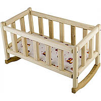 Кровать для кукол деревянная 20х40см