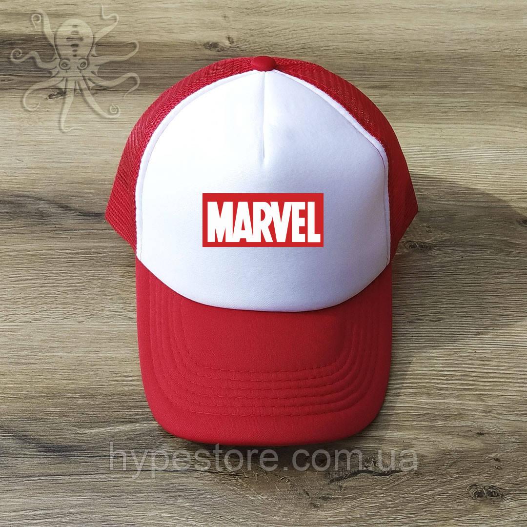 Мужская красная кепка-тракер, бейсболка Marvel, Реплика