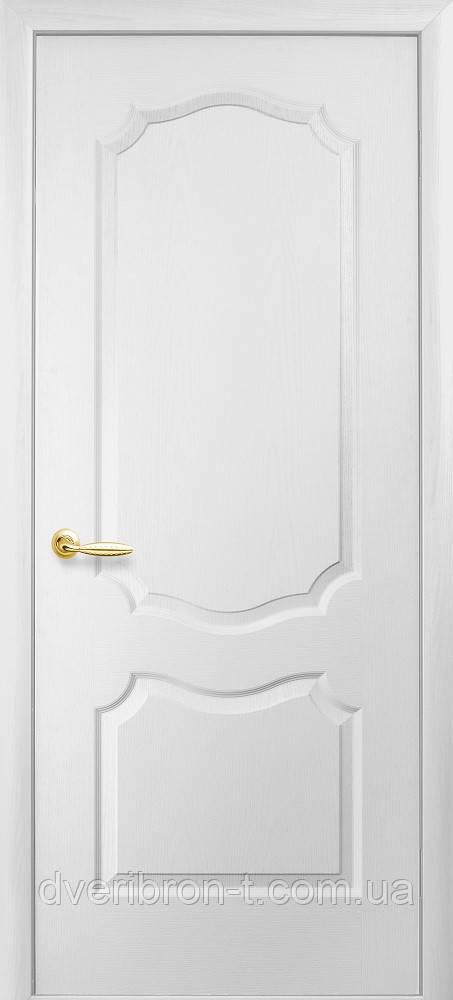 Двери Новый Стиль Дверь Вензель ПГ цвет белый структурный грунт, коллекция Симпли