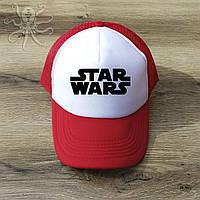 Мужская красная кепка-тракер, бейсболка Star Wars (черный лого), Реплика
