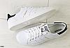 Кеды ADIDAS Stan Smith кожаные белые c черными вставками