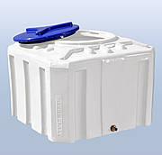 Емкость пластиковая квадратная однослойная Рото Европласт 300 литров