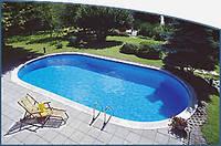 Овальный сборной бассейн серии TOSCANA размер 800х416х150см