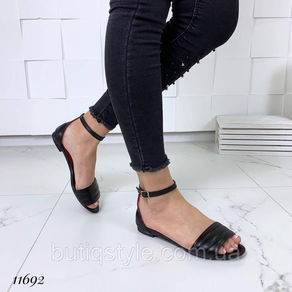 Черные женские босоножки натуральная кожа тренд 2019