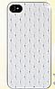 Белый чехол c камнями на iphone 4/4s