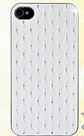 Белый чехол c камнями на iphone 4/4s, фото 1