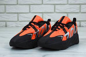 Мужские кроссовки AD Yeezy 700 Black Orange , А-д изи буст . ТОП Реплика ААА класса., фото 2