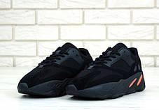 Мужские кроссовки AD Yeezy 700 Black, А-д изи буст . ТОП Реплика ААА класса., фото 2