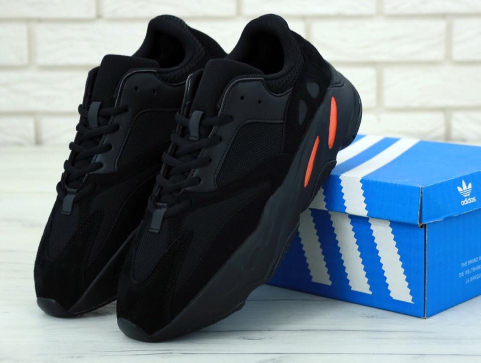 Мужские кроссовки AD Yeezy 700 Black, А-д изи буст . ТОП Реплика ААА класса.
