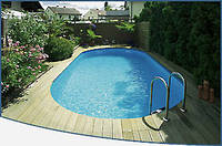 Овальный сборной бассейн серии TOSCANA размер 10000х416х150см