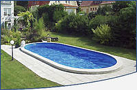 Овальный сборной бассейн серии TOSCANA размер 900х500х150см