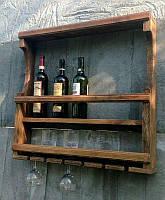 Полка винная из натурального дерева для дома и дачи, от производителя
