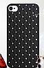 Черный чехол c камнями на iphone 4/4s