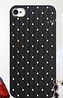 Черный чехол c камнями на iphone 4/4s, фото 1