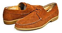 Весенние полуботинки на шнурках Ample   мужские, рыжие