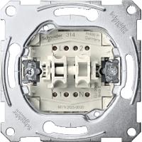 Механизм 2-клавишного выключателя с зажатием нейтрали Shneider Merten (MTN3125-0000)