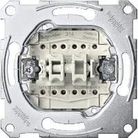 Механизм 2-клавишного выключателя проходного Shneider Merten (MTN3126-0000)