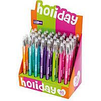 "Ручка гел. ""Leo"" №420316 Holiday 0,5мм мікс кольор.(40)"