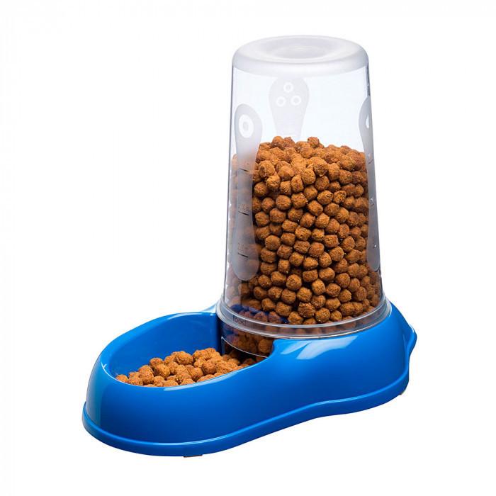 Механическая пластиковая кормушка для сухого корма и воды для кошек и собак Ferplast AZIMUT